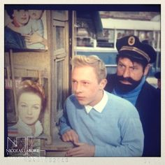 "Jean-Pierre Talbot and Georges Wilson in ""Tintin et la Mystère de la Toison D'Or"" (1961)."