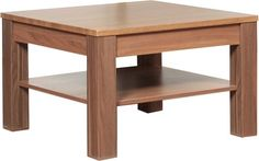 Dina Coffee Table with Shelf - Tobacco Ash Melamine