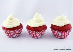 Gluten-Free Red Velvet Mini Cupcakes - Design, Dining + Diapers
