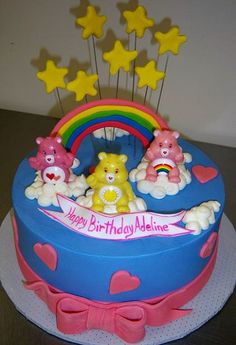 Care Bear Cake--love!
