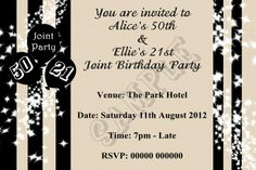 Party adult invitations birthday