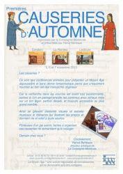 La Compagnie médiévale. Hervé Berteaux. Premières causeries d'automne, novembre 2013 dans le Gers (Condom, La Romieu, Lectoure)