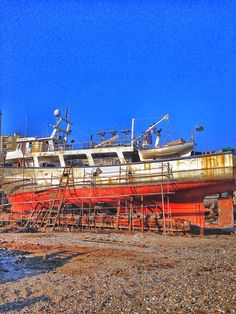 Ship in shipyard of Kavala,Greece