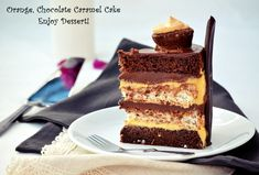 Tort cu ciocolata, portocale si caramel Chocolate Caramel Cake, Pavlova, Something Sweet, Gluten Free Recipes, Cake Decorating, Food And Drink, Sweets, Candy, Cooking