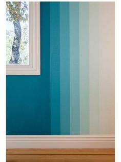 Cool 49 Pretty Ombre Wall Paint Designs Ideas For Living Room. # wall painting 49 Pretty Ombre Wall Paint Designs Ideas For Living Room Creative Wall Painting, Room Wall Painting, Creative Walls, House Painting, Wall Paintings, Wall Paint Patterns, Wall Paint Colors, Paint Walls, Ombre Painted Walls