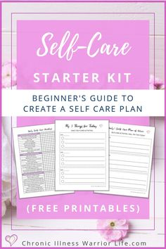 I never understood why it is important to focus on yourself until I started seeing a psychologist.  I didn't realize there are so many mental health benefits to self-care. This free self-care starter kit showed me what kind of self care do I need and has an amazing self-care ideas worksheet. This is an awesome beginner's guide to create a self-care plan and have a self-care strategies list to use every day. #selfcare #freeprintables #mentalhealth