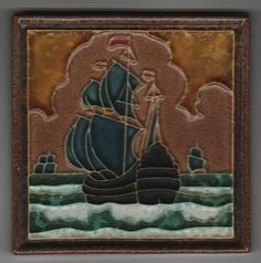 Jugendstil Fliese Kachel Art Nouveau Tile PORCELEYNE FLES 5