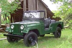 Sweet green Jeep CJ6 4x4.