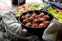 Blue Cheese-Stuffed Buffalo Wing Meatballs | A Bachelor and His Grill