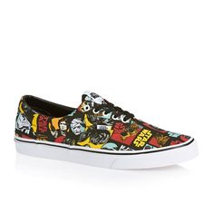 VANS Unisex Era Skate Shoes, Classic Low-Top Lace-up Style in Durable Double-Stitched Canvas and Original Waffle Outsole Sneakers Fashion, Fashion Shoes, Shoes Sneakers, Mens Fashion, Rave Shoes, Star Wars Vans, Vans Kids, Buy Vans, Skateboarding