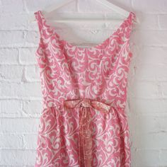 cb38b0381fb8a 1960s Prom Dress 60s Vintage Hattie Carnegie Small Pink Swirl Silk Organza Formal  Evening Ball Gown