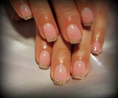 light pink with gold tip