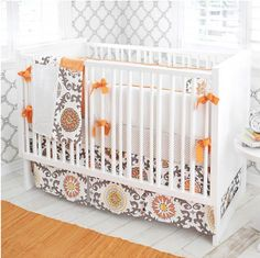 Orange and Tangerine Baby Girl Room ideas