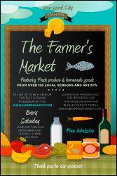 Farmer's Market Poster from TicketPrinting.com