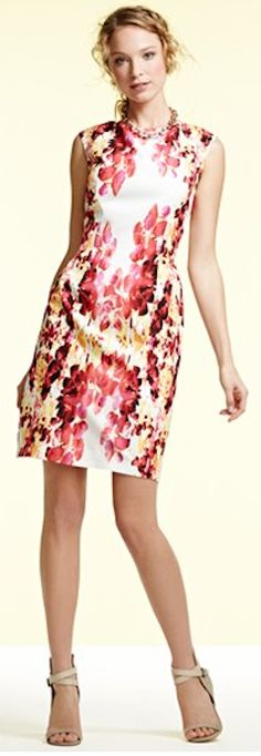 #floral sheath dress  http://rstyle.me/n/f63gupdpe