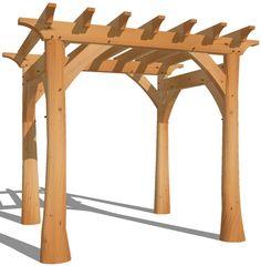 Craftsman Arbor Design | Pergola with Natural Round Posts