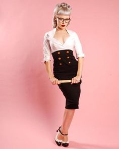 Love the high wasted wiggle skirt!