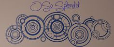 The Doctor's Name in Gallifreyan - Large Doctor Who Inspired Indoor Wall Vinyl Decal $30
