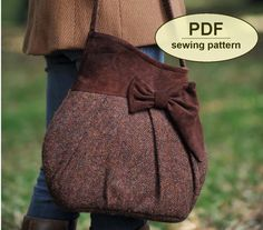 New: Sewing pattern to make the Brief Encounter Bag - PDF pattern INSTANT DOWNLOAD Bag purse 1940s vintage tweed pocket charliesaunt country Bag sewing pattern Purse sewing pattern Shoulder bag Pleats PDF pattern charliesaunt 8.00 USD