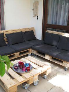 Paletten Sitzecke Im Freien (aber überdacht). Lounge Seating