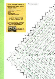 Chart for a doily but could be used for triangular shawl