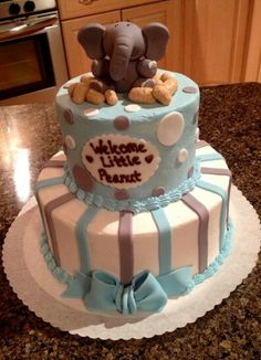 Something a little different for a baby shower cake