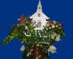 Wedding Chapel centerpiece  www.decorateyourevents.com