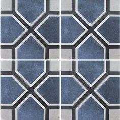 Antonette, x - Porcelain Pool Tile Modern Mosaic Tile, Mosaic Tiles, Pool Tiles, Tile Patterns, Color Patterns, Pool Finishes, Blue Pool, European Home Decor, Portuguese Tiles