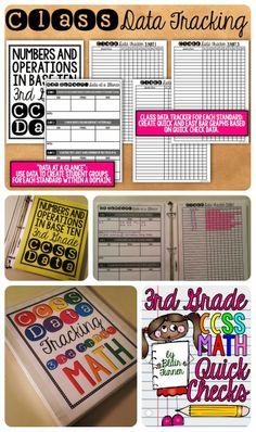 Quick Checks: 3rd Grade CCSS Math Assessment and Data Tracking