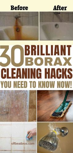 Borax is an amazing cleaner for your home with so man cleaning hacks. These cleaning hacks for borax are simply amazing to get a clean home. I'm so glad I found these amazing borax cleaning hacks and I have a clean home on a budget now. Deep Cleaning Tips, House Cleaning Tips, Cleaning Solutions, Spring Cleaning, Cleaning Products, Cleaning Schedules, Green Cleaning, Cleaning Checklist, Cleaning Service
