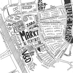 A map I made of the part of Utrecht surrounding the main marketplace.