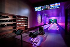 In search of lovely bowling outfits to put on linked to dating? Here are one of the best attire start on for bowling form and design and style! Dream Home Design, My Dream Home, House Design, Home Bowling Alley, Future House, My House, Arcade Game Room, Dream Mansion, Gameroom Ideas