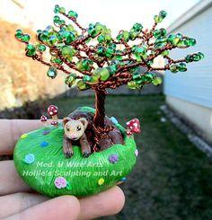 Ferret tree by HollieBollie.deviantart.com on @DeviantArt