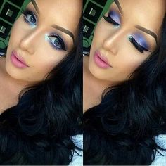 Galaxy Chic Palette by BH Cosmetics Purple Makeup Looks, I Love Makeup, Kiss Makeup, Beauty Makeup, Hair Makeup, Pretty Makeup, Bh Cosmetics Galaxy Chic, Galaxy Chic Palette, Yves Saint Laurent