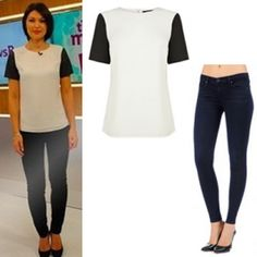 Where did Emma Willis get her top and jeans from on This Morning 26/11/13? - Style on Screen