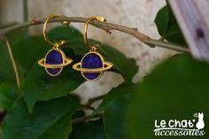 Charm earrings, Hoop earrings, Hoops, Enamel earrings, Celestial jewelry, Planet earrings, Blue earrings, Gold earrings, Gift for her by LeChatAccessories on Etsy #lechataccessories #galaxyinspiredjewelry #planetearrings #enamelearrings #bluegoldearrings #hoops #smallearrings #shortearrings #hoopearrings #etsygifts #etsyjewelry #etsyshop