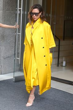 Victoria Beckham has inspired us to wear more yellow.