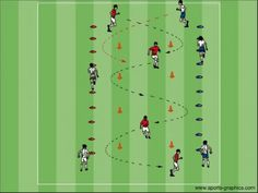 Your Drill Resource for Youth Soccer Football Coaching Drills, Football Workouts, Soccer Drills, Soccer Skills For Kids, Soccer Practice, Youth Soccer, Football Soccer, Soccer Warm Ups, Football Tactics