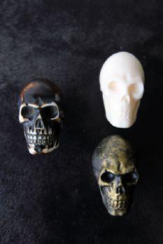 Skull Knob  - White,  Antique Gold or Antique Brown