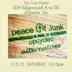 Come out! Peace of Junk LLC #Boutique will be stocked with plenty #eclectic , #handmade , #upcycled #collectibles ; where each #peace is #oneofakind!  Need #gifts ?   #hairaccessories #pins #brooches #jewelry #Earrings #bracelets #necklaces #rings #paintings #soycandles #wordart #artisan #blackowned #lgbtqia #Atlanta #health #travel #Georgia #farmersmarket #popup #popupshop #photooftheday #faith   Appreciate your #support !   www.peaceofjunk.com
