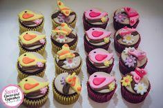 Sweet Cucas and Cupcakes by Rosângela Rolim: Mini Cupcakes e Alfajores Borboletas e Pássaros!