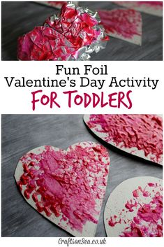 This cute Valentines Day activity for toddlers uses cheap kitchen materials to create a fun sensory and messy play activity that kids will love!
