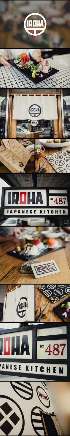 IROHA JAPANESE KITCHEN on Behance Branding packaging design logo brandidentity