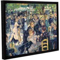 Pierre Renoir Ball At The Moulin De La Galette Floater-Framed Gallery-Wrapped Canvas, Size: 18 x 24, White