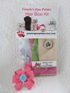 Bow Making Kit Hair Bows Dog Bows DIY by graciespawprints on Etsy https://www.etsy.com/listing/256850014/bow-making-kit-hair-bows-dog-bows-diy