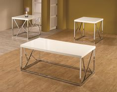Coaster 3 Piece Occasional Table Sets Set of 3 High-Gloss Occasional Tables  Play room upstairs