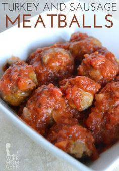 Turkey and Sausage Meatballs - Low Carb Appetizer