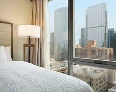 Hampton Inn Chicago West Loop Hotel, IL - 2 Queen Bed Skyline View Guest Room