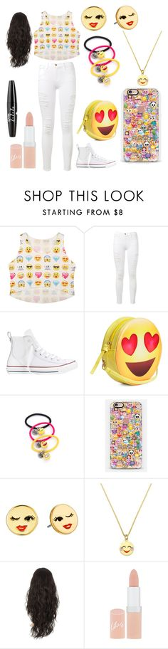 """""""Emoji"""" by calahmccombs on Polyvore featuring Frame Denim, Converse, Venessa Arizaga, Casetify, Kate Spade, Rimmel and NYX"""
