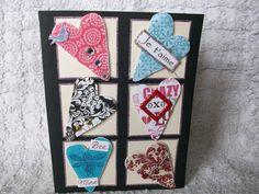 Handmade Valentine Card, Je t'aime Card, Bee Mine Card, OXO Card by DesignsByMEHR on Etsy